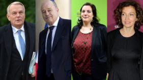 De gauche à droite : Jean-Marc Ayrault, Jean-Michel Baylet, Emmanuelle Cosse et Audrey Azoulay