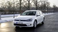 Volkswagen e-Golf, version électrique de 115 ch/270Nm lancée en juillet 2014 au prix de 36.790 euros en France