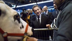 Nicolas Sarkozy au salon de l'agriculture 2012