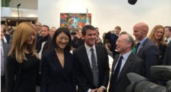Zahia, Fleur Pellerin et Manuel Valls.