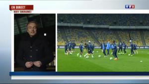 Le 20 heures du 14 novembre 2013 : Ukraine-France : les Bleus d�ndus lors de l'entra�ment - 1867.2827559204102