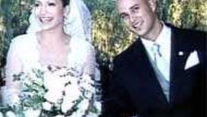 Jennifer Lopez lors de son mariage avec Cris Judd