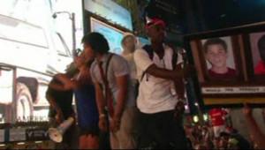 Manifestation à New York contre le verdict d'acquittement en faveur de George Zimmerman pour le meurtre de Trayvon Martin, 14 juillet 2013