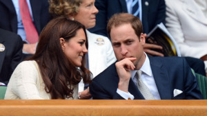 Le prince William et la princesse Catherine, le duc et la duchesse de Cambridge à Wimbledon, le 4.07.2012.