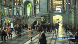 Le 13 heures du 8 mars 2015 : Zoom sur Anvers-Bruges : l'une des plus belles gare du monde - 1918.0997709960939