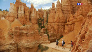Le 20 heures du 24 juillet 2014 : Le paysage grandiose du Bryce Canyon dans l%u2019ouest am�cain - 1983.5732866821286