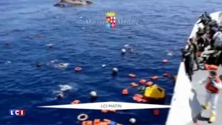Le naufrage d'un bateau transportant plus de 500 migrants filmé par la marine italienne