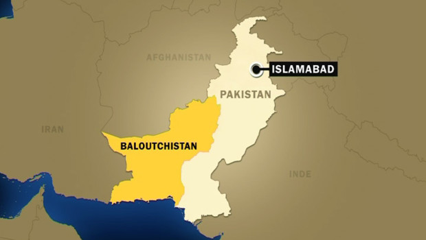carte pakistan baloutchistan balouchistan