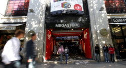 L&#039;entre du Virgin Megastore sur les Champs-Elyses  Paris