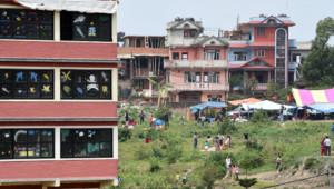 Népal : dégâts à Katmandou au lendemain du séisme, 26/4/15