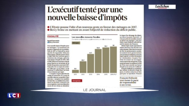 """""""Ça va mieux"""" : l'Élysée envisage une baisse des impôts"""