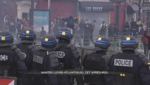 Des heurts ont éclaté à Nantes en marge d'une manifestation contre la loi Travail.
