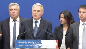 Jean-Marc Ayrault et des ministres le 6 septembre 2012