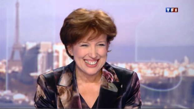 Roselyne Bachelot sur le plateau du journal de TF1.