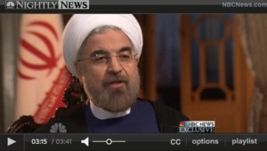 Hassan Rohani sur NBC, 18/9/13