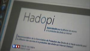 Site Internet d'Hadopi, image d'archive