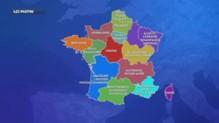 Carte des régions
