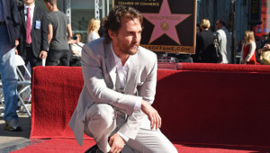 McConaughey walk of fame étoile Los angeles hollywood