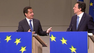 TF1/LCI : Nicolas Sarkozy et le président de la Commission européenne José Manuel Barroso (23 mai 2007)
