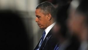 Barack Obama lors de la cérémonie d'hommage aux victimes de l'attentat de Boston, le 18 avril 2013.
