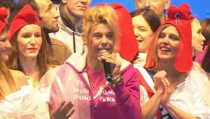 """Frigide Barjot, porte-parole de l'association """"La Manif pour tous"""", lors de la manifestation du 13 janvier"""