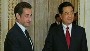 Hu Jintao et Nicolas Sarkozy