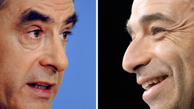 Montage photo : François Fillon (gauche) ; Jean-François Copé (droite)