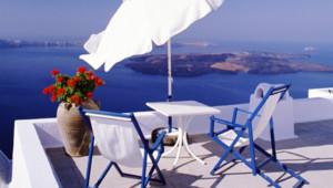 Une terrasse en Grèce