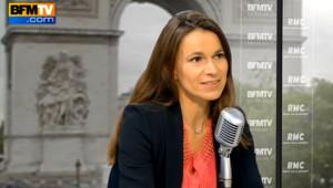 Aurélie Filippetti au micro d'RMC/BFM TV le 21 juin 2013.