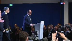 """Le 20 heures du 18 janvier 2014 : En Corr�, Hollande appelle �une seule France"""" - 638.9607927246094"""