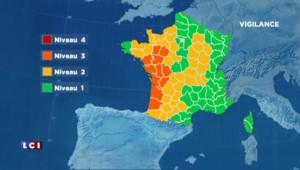 Météo France place 11 départements en vigilance aux orages