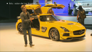 Sujet Automoto Salon Los Angeles Mercedes SLS Black