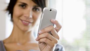 Femme photo smartphone
