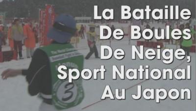 bataille boules neige japon