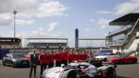 L'Audi R18 e-tron quattro en livrée définitive pour le championnat WEC et les 24 Heures du Mans 2014