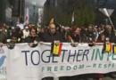 La marche contre la terreur et la haine à Bruxelles.