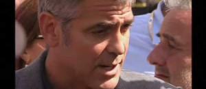 George Clooney à l'Aquila, le 9 juillet 2009