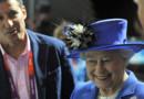 La reine Elizabeth II au centre aquatique de Londres, au premier jour des Jeux Olympiques (28 juillet 2012)