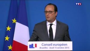 """Hollande : """" La France n'est pas soumise à un afflux de réfugiés"""""""