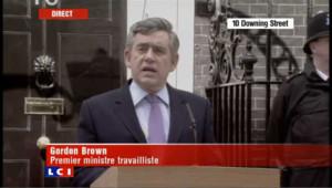 Royaume-Uni : la déclaration de Gordon Brown