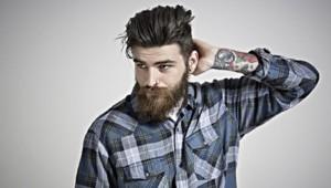 Un hipster barbu (Image d'illustration)