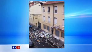 Villeurbanne, un forcené a jeté tout son appartement par la fenêtre. Le 3 septembre 2011.