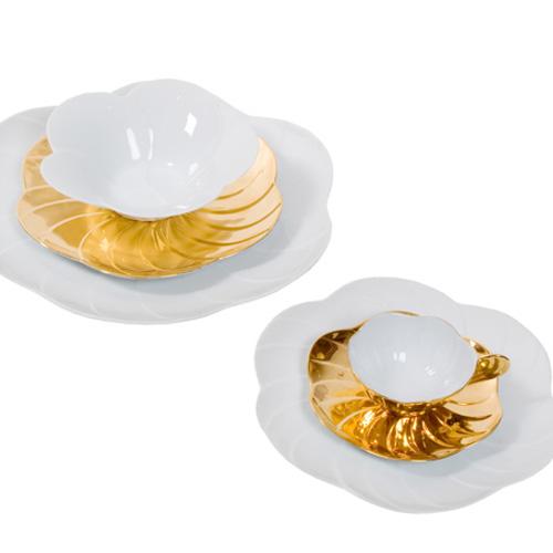 Déco - Tasse porcelaine dorée - Jacques Pergay