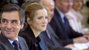 François Fillon et Nathalie Kosciuskot-Morizet le 4 janvier 2012 à Paris - UMP