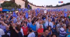 Le 13 heures du 4 juillet 2015 : Grèce : manifestations nocturnes à Athènes avant le référendum de dimanche - 766