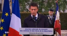 Manuel Valls rend hommage aux victimes de déportation ce dimanche
