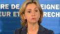 Valérie Pécresse, après une rencontre marathon pour désamorcer la crise des universités (27 février 2009)