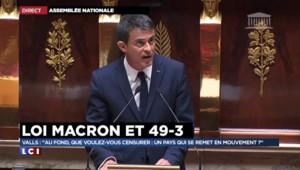 """Valls à la droite : """"Au fond, que voulez-vous censurer : un pays qui se remet en mouvement ?"""""""