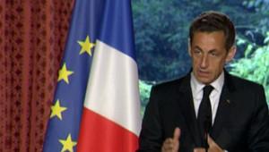 Nicolas Sarkozy s'exprimant à l'Elysée sur les questions de sécurité (28 mai 2009)