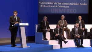 Sarkozy au congrès de la FNSEA, le 29 mars 2012.